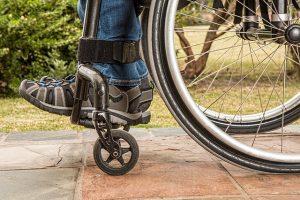 person sat in wheelchair